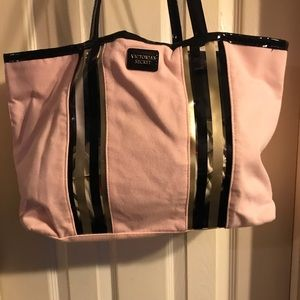 Victoria Secret Pink canvas tote bag